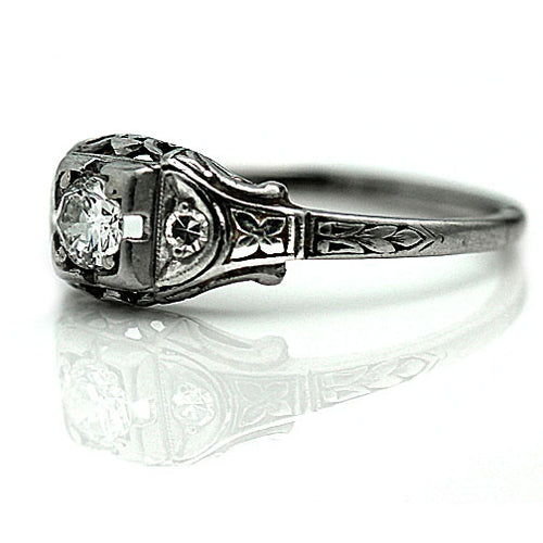 Art Deco .30 Carat Engagement Ring