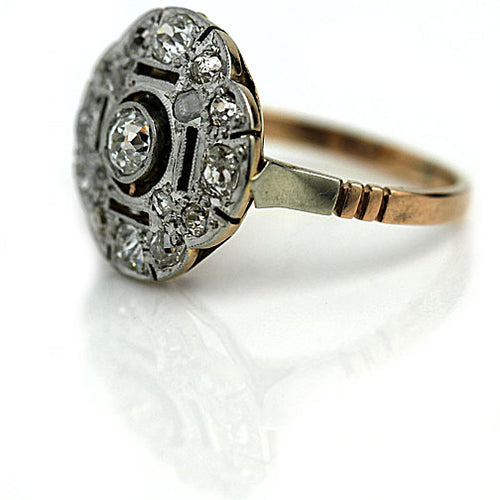 .20 Carat Edwardian Diamond Dinner Ring