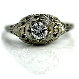 .35 Carat Art Deco Engagement Ring Circa 1930's