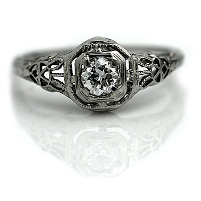Estate Diamond Solitaire Engagement Ring