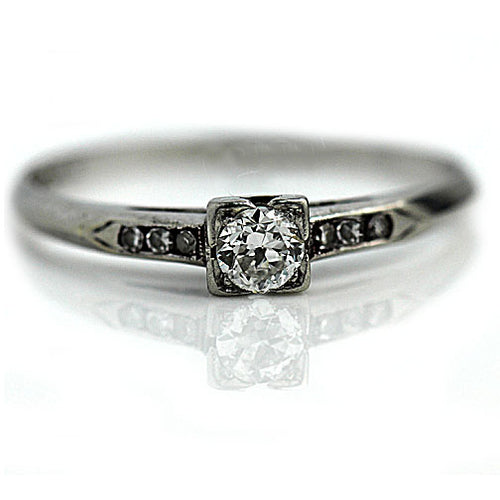Art Deco .25 Carat Platinum Diamond Ring