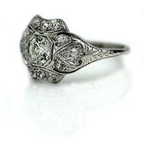 Edwardian .70 Carat Platinum Diamond Ring