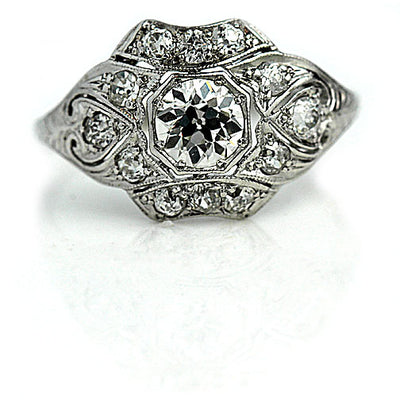 Edwardian Octagon Diamond Engagement Ring