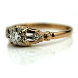 Estate Diamond Ring .15 Carat Circa 1940's