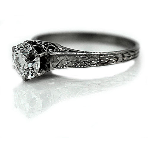 .86 Carat GIA Art Deco Diamond Solitaire Ring