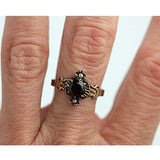 Victorian Garnet Pearl Rose Gold Ring