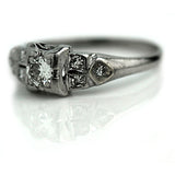 Art Deco .25 Carat Diamond Engagement Ring