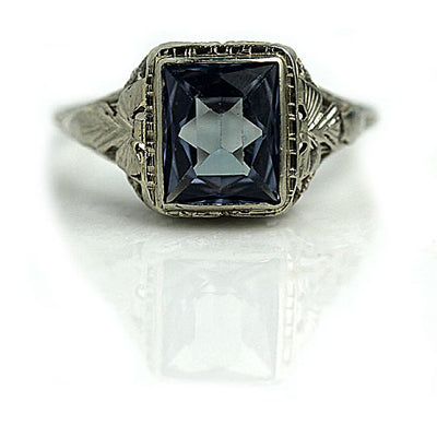 Antique Color Change Gemstone Engagement Ring - Vintage Diamond Ring