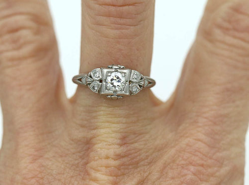 Art Deco Engagement Ring .35 Carat