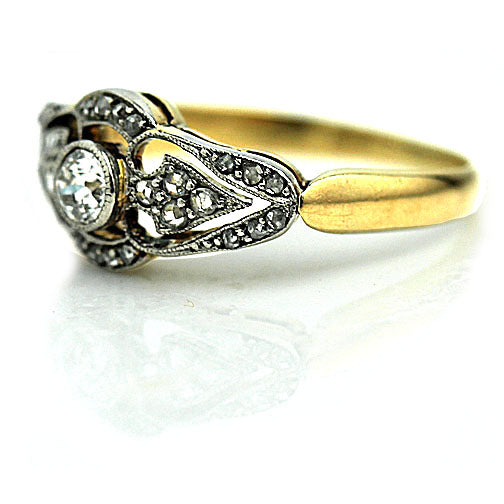 Edwardian Diamond Engagement Ring Circa 1920's