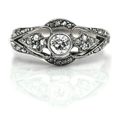 Bezel Set Edwardian Engagement Ring