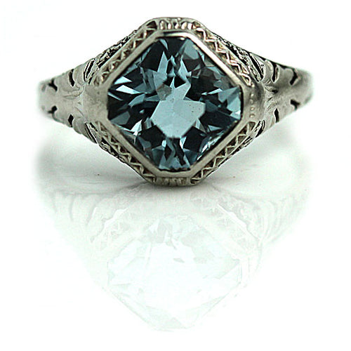 Art Deco Aquamarine Ring 2.50 Carat