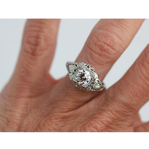 .97 Carat GIA Art Deco Solitaire Engagement Ring