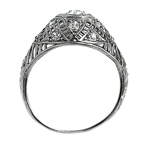 .45 Carat Art Deco Diamond Dome Ring