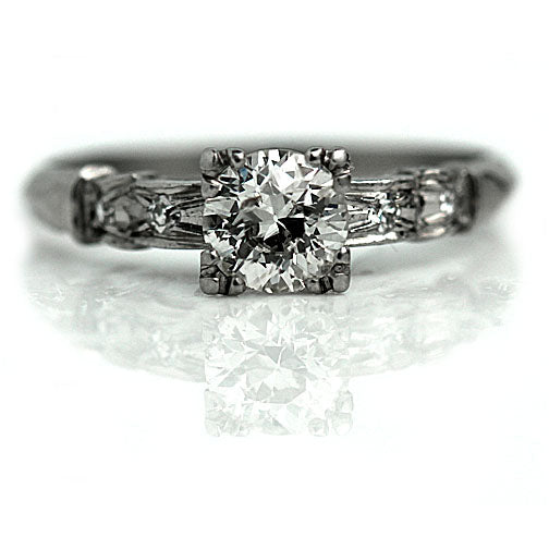 Vintage Old Mine Cut Diamond Engagement Ring
