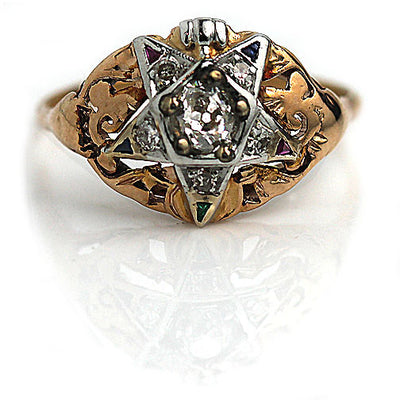 Eastern Star Diamond & Gemstone Engagement Ring