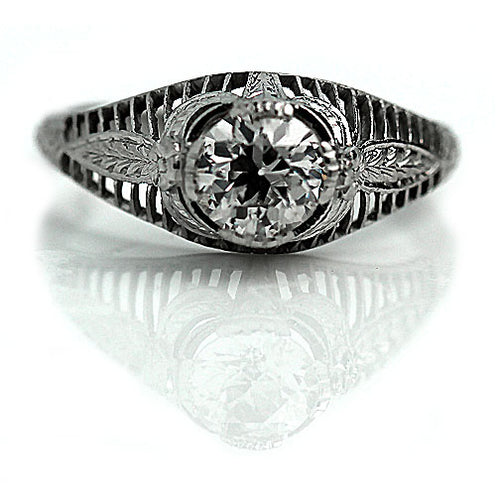.80 Carat Art Deco Platinum Engagement Ring