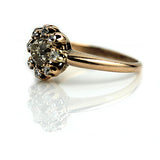 Fancy Brown Diamond Halo Engagement Ring