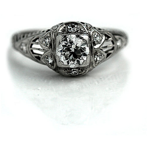 .55 Carat Platinum Antique Engagement Ring