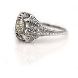 Antique Art Deco Filigree Engagement Ring