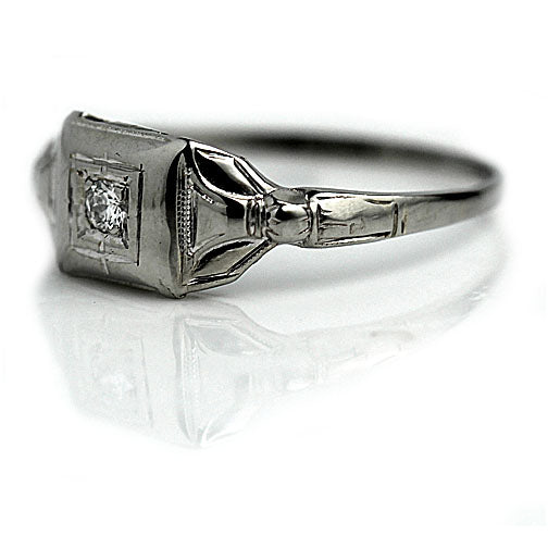 Petite 1930's Art Deco Diamond Ring