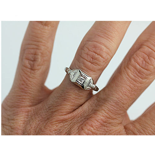 Petite Stackable Solitaire Engagement Ring