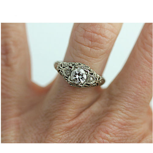 Art Deco .60 Carat Engagement Ring