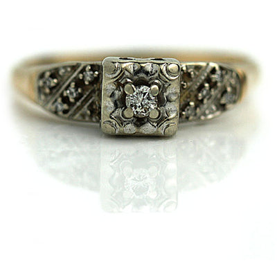 Classic Promise Ring with Side Stones