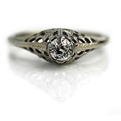 Art Deco Diamond Ring .35 Carat