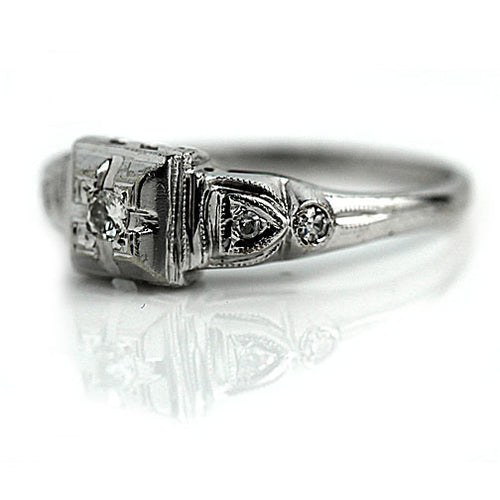 Art Deco Engagement Ring .10 Carat