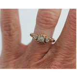 Vintage 1940's Two Tone Diamond Ring