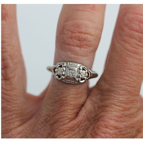 1940's Antique Promise Ring