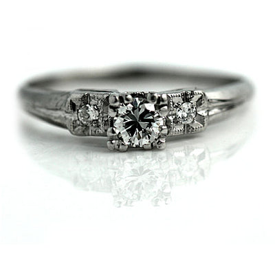 Vintage Three Diamond Engagement Ring