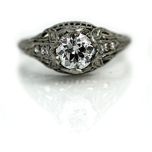 .86 Carat Old European Cut Diamond Ring