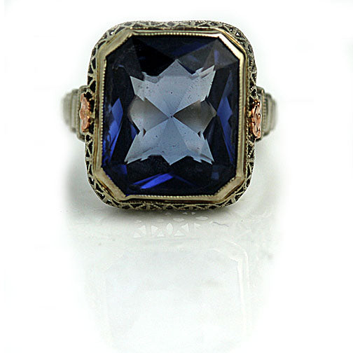 Vintage 7.00 Carat Blue Gemstone Cocktail Ring