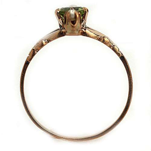 Unique Victorian Peridot & Pearl Ring