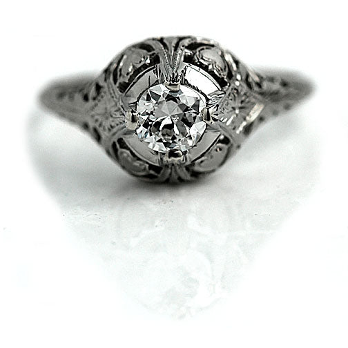 .45 Carat Art Deco Engagement Ring Circa 1930's