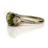 Art Deco 2.50 Carat Peridot Engagement Ring