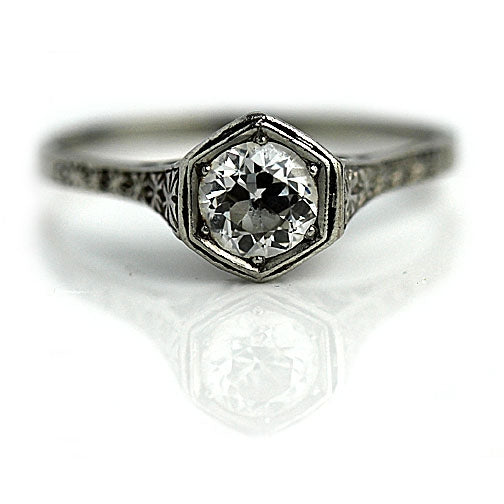 .65 Carat Art Deco Solitaire Platinum Ring On Reserve!
