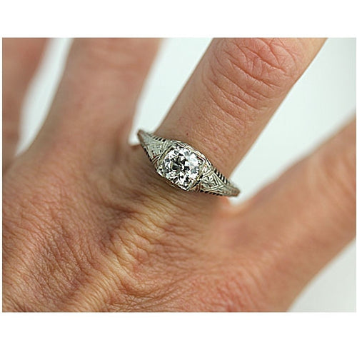 .95 Carat Art Deco Diamond Engagement Ring