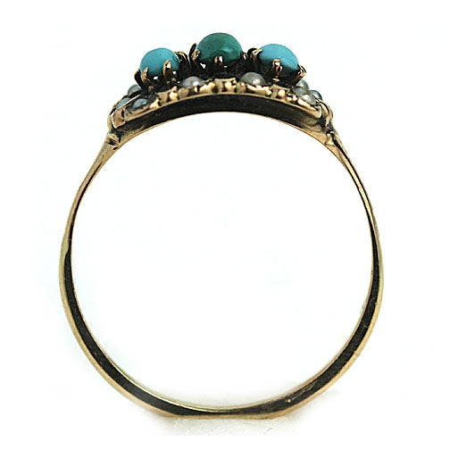 Victorian Turquoise Pearl Ring