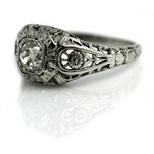 .40 Carat Art Deco Engagement Ring