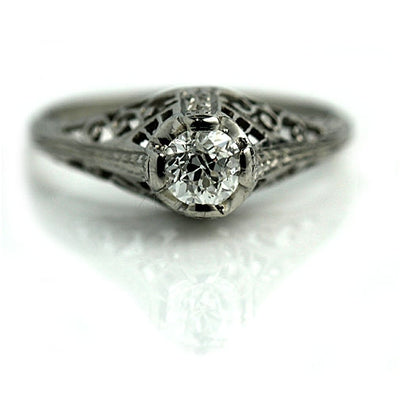 .40 ct Diamond Filigree Solitaire Engagement Ring