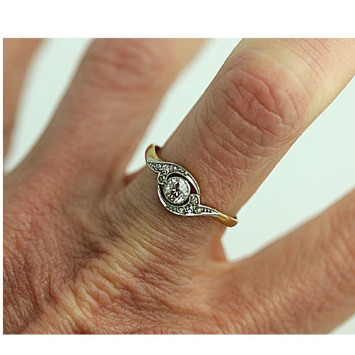 Victorian .20 Carat Diamond Engagement Ring
