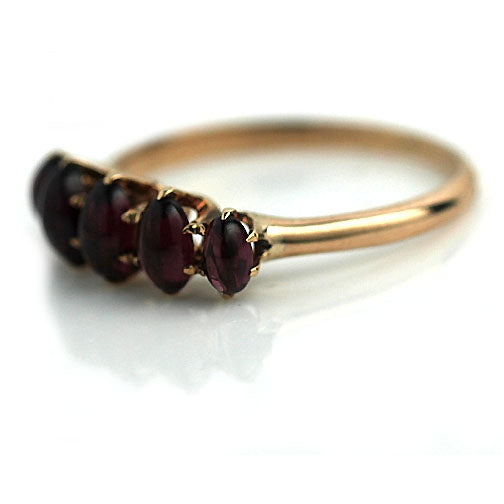 Stackable Garnet Wedding Band