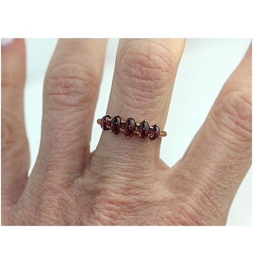 .60 Carat Vintage Garnet Wedding Band
