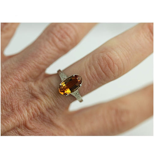 Art Deco 2.00 Carat Citrine Ring