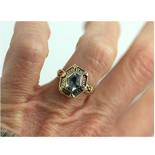 Estate Aquamarine 1.00 Carat Engagement Ring