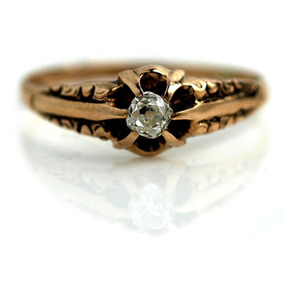Victorian Engagement Ring in Rose Gold