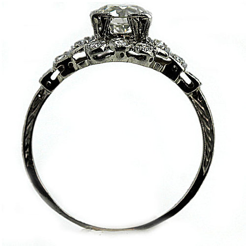 Art Deco Engagement Ring 1.00 Carat Platinum